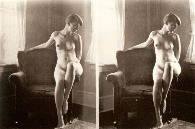 圖22-6 Theodore Miller Stereoscopic Nude Study of Lee 1928 (real)